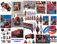Star Wars Episode 7 Boys Birthday Party Supplies ~ Table cover Decoration Favors