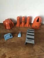1961 Cape Canaveral Atomic Missile Base Marx Playset Plastic Accessories Lot