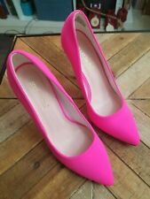 Neon Pink Glow In The Dark Classic Pointed Toe Pump Shoe Stiletto High Heel