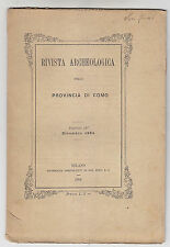 W560-RIVISTA ARCHEOLOGICA DELLA PROV. DI COMO 1884