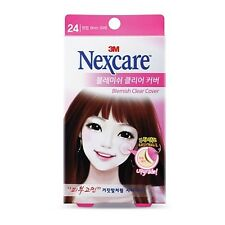 Genuine 3M Nexcare Blemish Clear Cover Acne Pimple Cover Patch - 24 EA