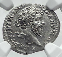 SEPTIMIUS SEVERUS Authentic Ancient  Silver Roman Coin Aequitas NGC MS i80909