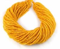 "5 Strands Lot Yellow Chalcedony Rondelle 4-4.5 mm Faceted Gemstone Beads 13""Inch"