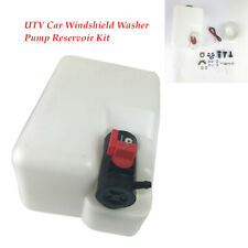 Universal UTV Car Windshield Washer Pump nozzle Reservoir hose connector Kit