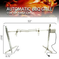 "53"" Grill Rotisserie Spit Roaster Rod Electric BBQ Pig Chicken 70kg Motor Kit"