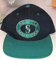 size 40 09601 9395e Seattle Mariners Hat Snapback Blue Cap NEW