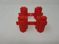 4 Pack 3D Printed Wall Mounted Tool Holder Made for Milwaukee M12 RED