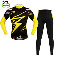Cycling Suits Cycling Jacket Bicycle Bike Jersey Long Riding Pants Set Gel Pad