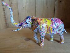 ELEPHANT STREET ART POP ART CUSTOMISE DESIGN PAR L ARTISTE SIGNE