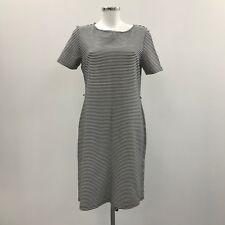 HOBBS Black White Striped Stretch Jersey T Shirt Dress Everyday Size UK 16 32276