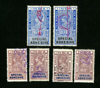 India Stamps VF 6 Indian Revenues