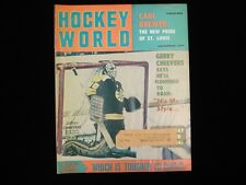November 1971 Hockey World Magazine - Gerry Cheevers Bruins Cover
