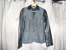 Biscote Veste NEUVE en Laine et véritable Cuir Taille S/ Brand New Jacket Size S