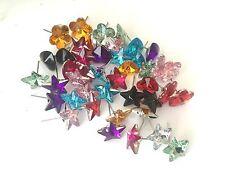 TWENTY FIVE pairs of studs flower hearts stars 25 loose pairs