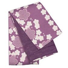 Japanese Women's Traditional Yukata Kimono Hakama Shita Obi Belt Purple
