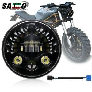 "For 93-08 Ducati Monster 1000 600 620 695 750 800 900 7"" LED Headlight Projector"
