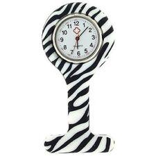 Verpleegkundigen Fashion gekleurd patroon Silicon Rubber Fob horloges - Zebra