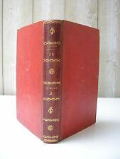 BUFFON : HISTOIRE NATURELLE Tome 18 hitoire des animaux & homme 3 gravures 1799