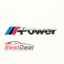 M-POWER BOOT BADGE SPORT POWER TEC FOR BMW 1 3 4 5 6 SERIES M3 M5 X5 METAL