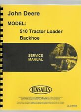 John Deere 510 Tractor Loader Backhoe TLB Technical Service Manual tm1039