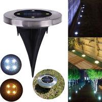 Solar 4 LED Waterproof Outdoor Path Light Spot Lamp Yard Garden Lawn Landscape U