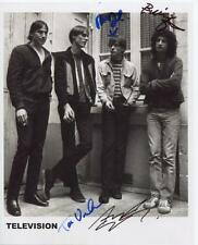 Television (Band) Tom Verlaine Fully Signed  Photo Genuine In Person