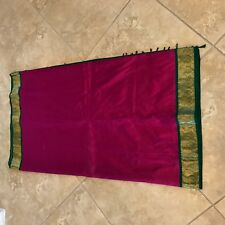Pink Green Kanchipuram Kanjivaram Silk Saree Zari Indian Traditional Handloom