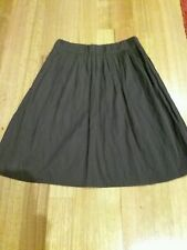 VERONIKA MAINE Beautiful Chocolate Brown Acetate A-Line Pleated Skirt Size 10.