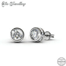 Glam Solitaire Earrings [Crystals from Swarovski®]