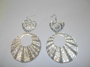 """orecchini in alluminio """"cuore e cerchio"""""""