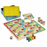 3 in 1 Game Set - Snakes and Ladders, Puzzle and Tic Tac Toe Family Board Games