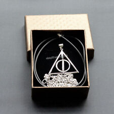 Harry Potter Deathly Hallows 925 Sterling Silver Pendant Necklace Gift Box Set