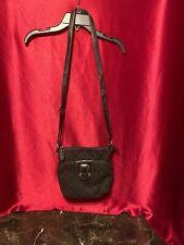 Croft & Barrow Black  Crossbody Shoulder Bag Handbag Silver Hardware