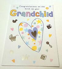 CONGRATULATIONS ON THE BIRTH OF YOUR GRANDCHILD CARD Treasure Moments NEW BABY