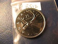 CANADA 1977 25 CENT GEM PERFECT COIN FROM MINT SET ID#R512