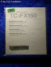 Sony Bedienungsanleitung TC FX150 Cassette Deck (#0921)