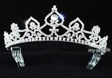 Matrimonio regina CUORE STRASS CRISTALLI Tiara T1325