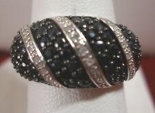 Plata de Ley Original Diamantes/ZAFIROS ANILLO PARA MUJER