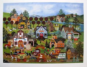 """JANE WOOSTER SCOTT """"SHOPPING SPREE"""" Hand Signed Limited Edition Lithograph Art"""
