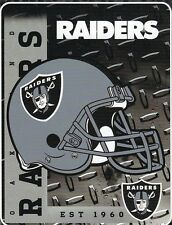 Oakland Raiders NFL Helmet 60x80 Fleece Throw Blanket
