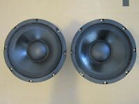 "NEW (2) 8"" Woofer Replacement Speakers PAIR.Guitar.4ohm.PA.Pro Audio.8.25"" frame"