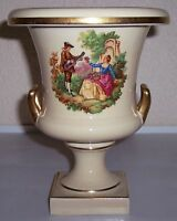 TRENTON ART POTTERIES SCENIC DECORATED 2-HANDLE VASE!