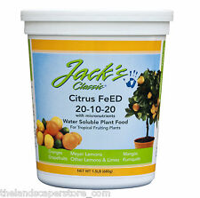 JR Peters Jacks Citrus Feed 20-10-20 1.5 lb Micronutrients Plant Food Fertilizer