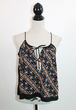 Chloe Oliver Beaded Embroidered Cami Boho Festival Tassel Babydoll Tank Top XS