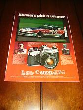 BOB SHARP DATSUN Z RACE CAR CANON AE1   ***ORIGINAL 1978 AD***