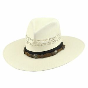Justin Men's Freestone Bent Rail Bangora Straw Western Hat JS104FFRES