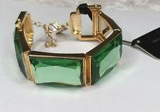 Jasper Conran Light Green Gold Tone Stretchy Elastic Bracelet ZC3