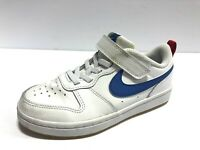 Nike Court Borough Low 2 White Athletic Shoes, Boy's Size 12.5M