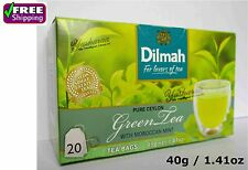 Dilmah Pure Sri Lanka Ceylon Green Tea with Natural Moroccan Mint Tea Bags 40g