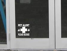 "Pet Alert fire Rescue Door Sign M128 6"" Sticker decal cat dog pet safety window"